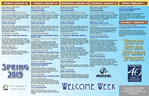 Welcome Week Poster