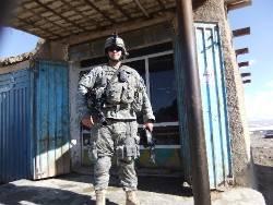 Allan Estrada in military uniform