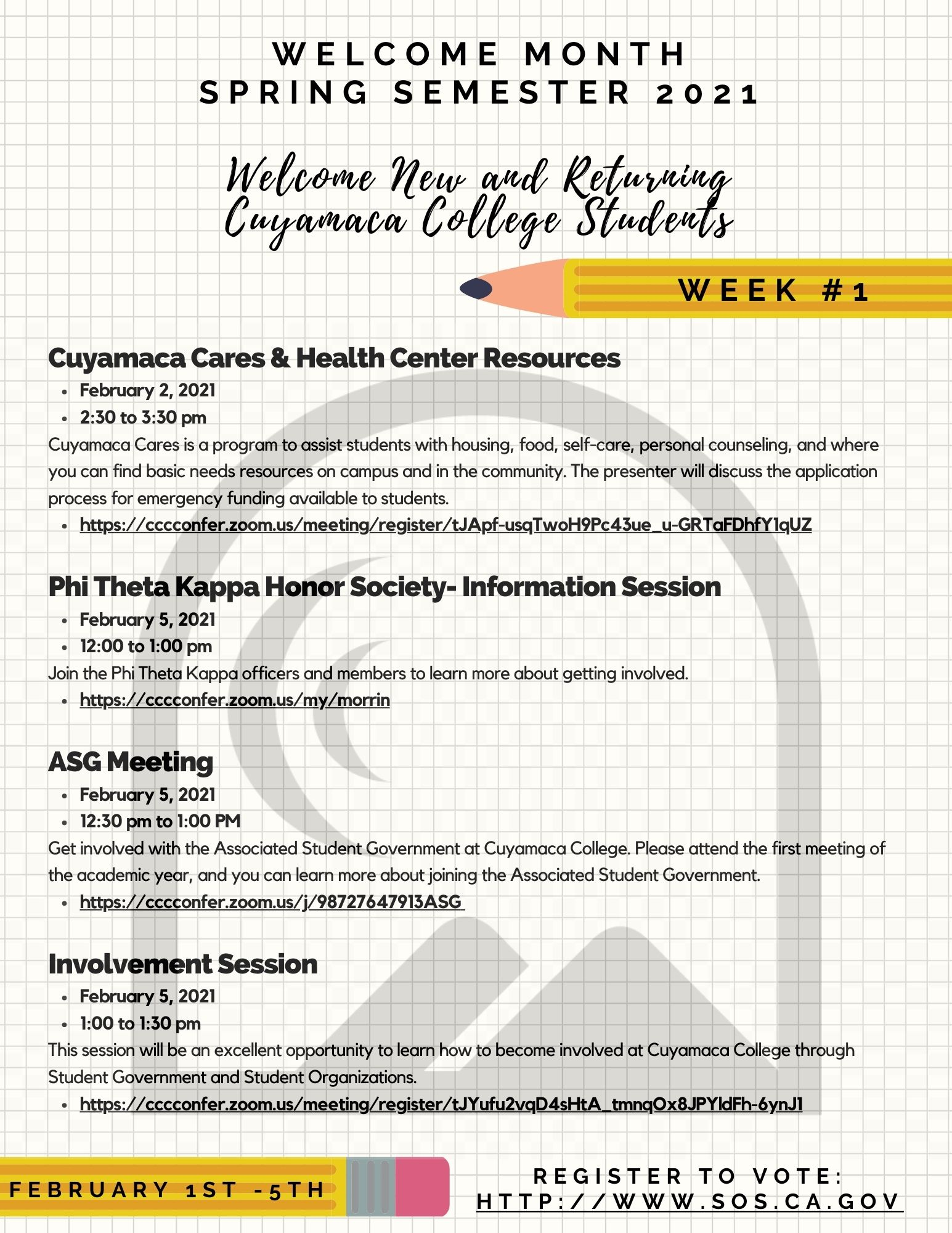 Welcome Month Week 1