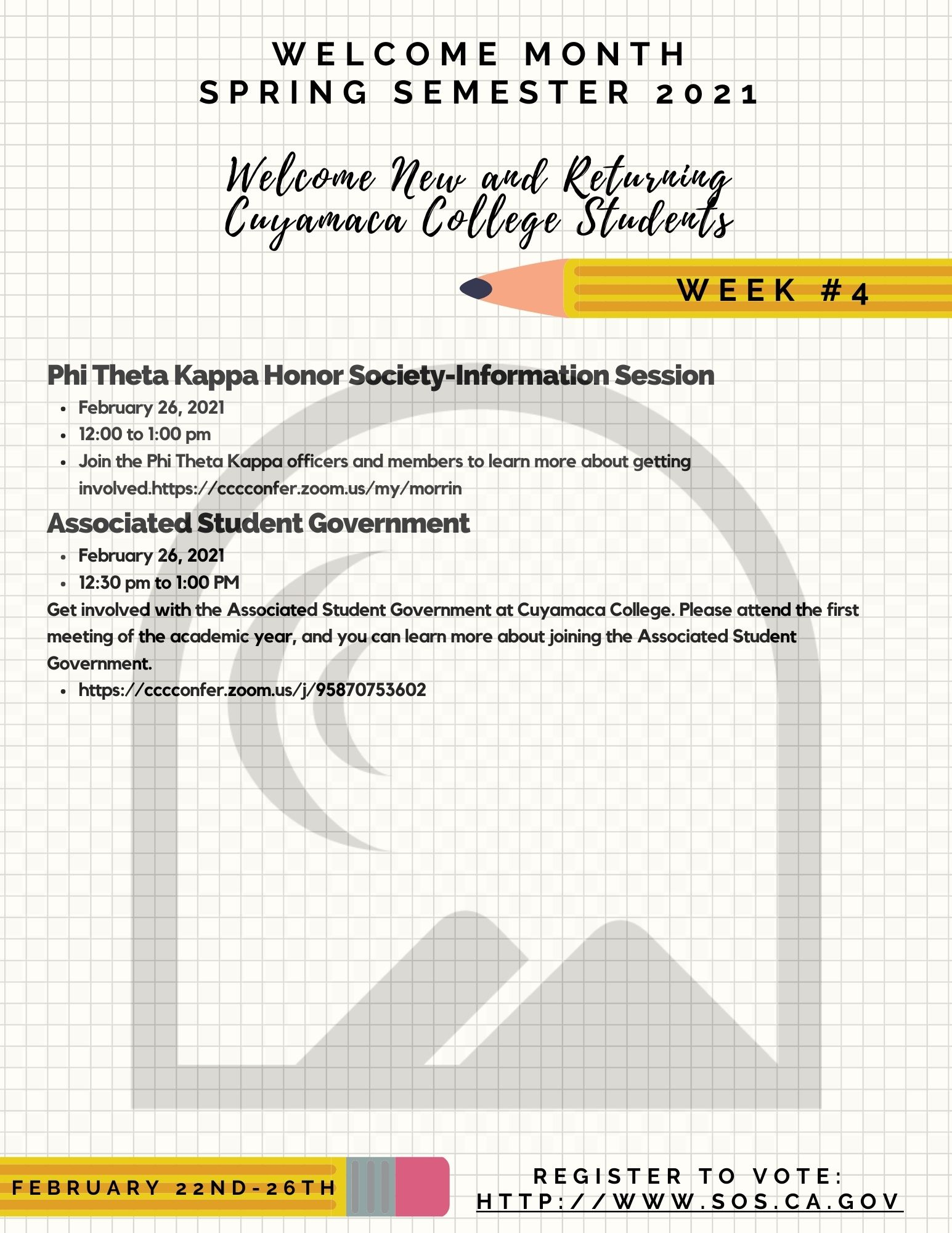 Welcome Month Week 4